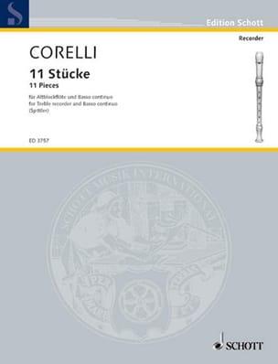 Arcangelo Corelli - Elf Stücke – Altblockflöte U. Bc - Partition - di-arezzo.fr