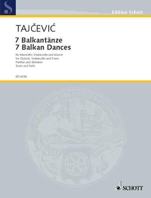Marko Tajcevic - Sieben Balkantänze - Partition - di-arezzo.fr
