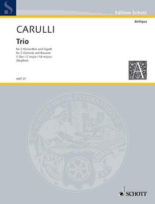 Trio C-Dur B-Dur op. 1 -2 Klarinetten Fagott laflutedepan