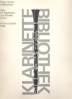 Duo A-Dur-Klarinette Klavier - HOFFMEISTER - laflutedepan.com