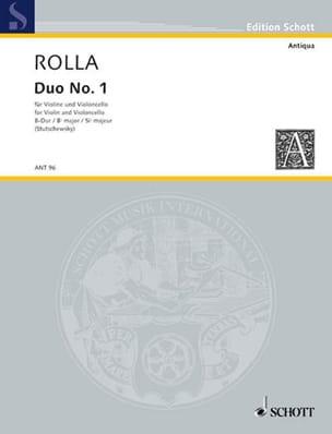 Duo n° 1 en si bémol majeur Alessandro Rolla Partition laflutedepan