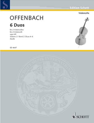 Jacques Offenbach - 6 Duos op. 49, Bd. 2 4-6 - Partition - di-arezzo.fr