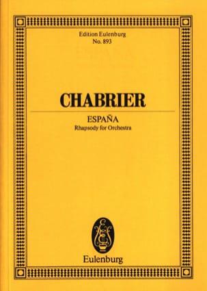Emmanuel Chabrier - España - Partition - di-arezzo.fr