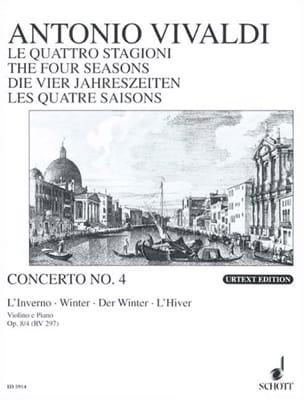 Antonio Vivaldi - Concerto L'inverno op. 8 n° 4 - Partition - di-arezzo.fr