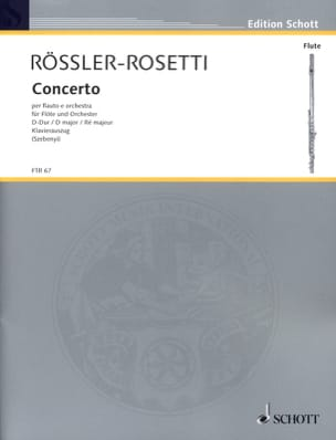 Franz Anton Rössler - Concerto D-Dur - Flöte Klavier - Partition - di-arezzo.fr