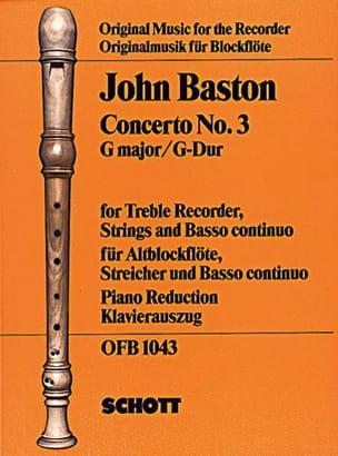 Concerto Nr. 3 G-Dur für Altblockflöte - laflutedepan.com