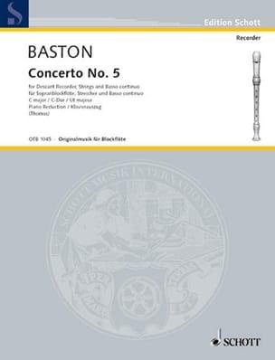 Concerto Nr. 5 C-Dur für Sopranblockflöte John Baston laflutedepan