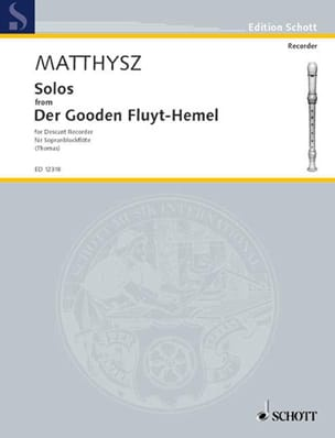 Solos -Sopranblockflöte Paul Matthysz Partition laflutedepan