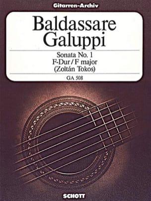 Baldassare Galuppi - Sonate Nr. 1 F-Dur -Gitarre - Partition - di-arezzo.fr