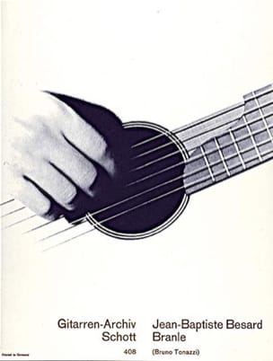 Branle - Jean-Baptiste Besard - Partition - Guitare - laflutedepan.com