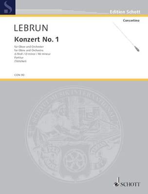 Ludwig August Lebrun - Oboen-Konzert Nr. 1 d-moll - Partitur - Sheet Music - di-arezzo.com