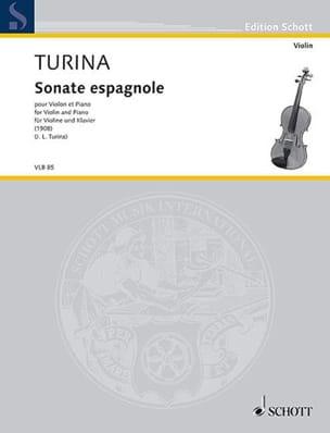 Joaquin Turina - Sonate espagnole - Partition - di-arezzo.fr