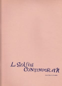 Albert Beaucamp - Le Solfège Contemporain Volume 4 - Prof - Partition - di-arezzo.fr