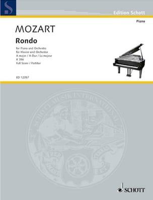 Rondo A-Dur für Piano und Orch. KV 386 - Partitur - laflutedepan.com