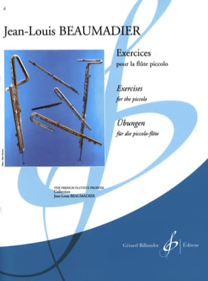 Jean-Louis Beaumadier - Exercises for piccolo flute - Sheet Music - di-arezzo.com