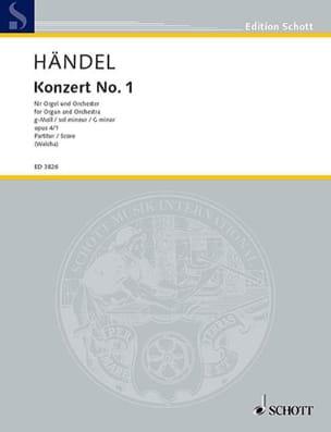HAENDEL - Orgel-Konzert Nr. 1 g-Moll op. 4/1 - Partitur - Partition - di-arezzo.fr