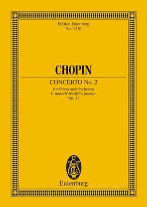 CHOPIN - Concerto N ° 2 for Piano and Orchestra in F Minor Op. 21 - Sheet Music - di-arezzo.com
