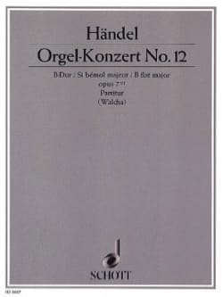 HAENDEL - Orgel-Konzert Nr. 12 B-Dur, op. 7/6 - Partitur - Sheet Music - di-arezzo.co.uk