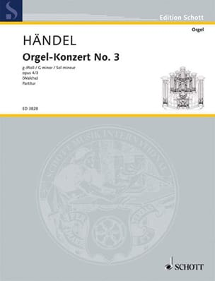 Georg Friedrich Haendel - Orgel-Konzert Nr. 3 g-Moll op. 4/3 - Partition - di-arezzo.fr