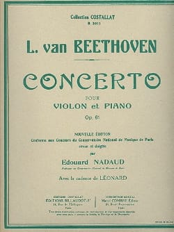 Ludwig van Beethoven - Concerto Violon en ré majeur op. 61 - Partition - di-arezzo.fr