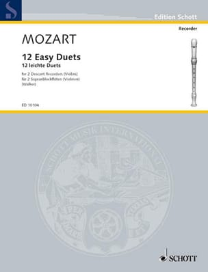 MOZART - 12 Easy duets - 2 descending recorders purple gold - Sheet Music - di-arezzo.com