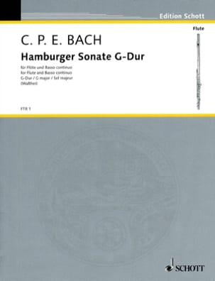 Hamburger Sonate Carl Philipp Emanuel Bach Partition laflutedepan