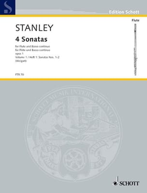 4 Sonaten - Bd. 1 - Flöte und Bc John Stanley Partition laflutedepan