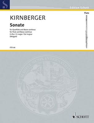 Johann Philipp Kirnberger - Sonate G-Dur – Flöte und Bc - Partition - di-arezzo.fr