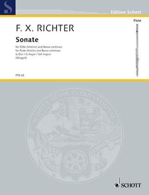 Franz Xaver Richter - Sonate G-Dur - Flöte Violine Violoncello Cembalo Klavier - Partition - di-arezzo.fr