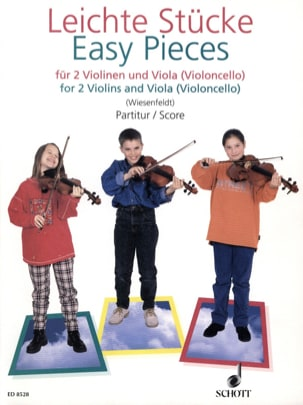 Eva Wiesenfeldt - Easy Pieces for 2 Violins and Viola (Violoncello) - Partition - di-arezzo.fr