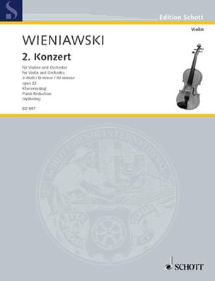 WIENIAWSKI - Concerto in D minor op. 22 - Partition - di-arezzo.com