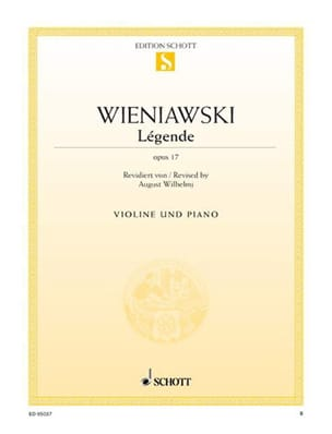 WIENIAWSKI - Legend - Opus 17 - Sheet Music - di-arezzo.co.uk