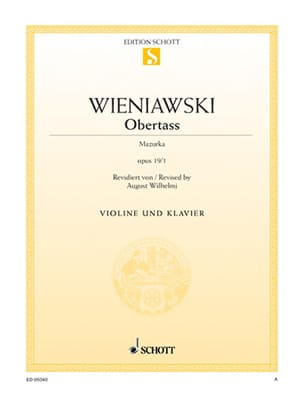 WIENIAWSKI - Obertass op. 19 n ° 1 - Sheet Music - di-arezzo.co.uk