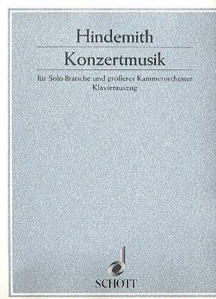 Konzertmusik op. 48 HINDEMITH Partition Alto - laflutedepan