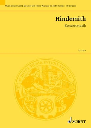 Konzertmusik, Opus 49 1930 - HINDEMITH - Partition - laflutedepan.com