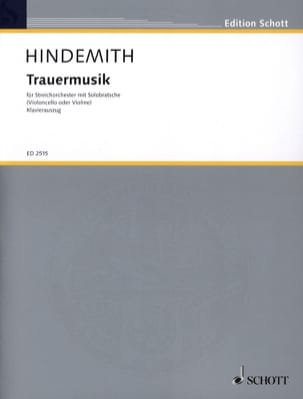Paul Hindemith - Trauermusik - Viola Klavier - Sheet Music - di-arezzo.co.uk