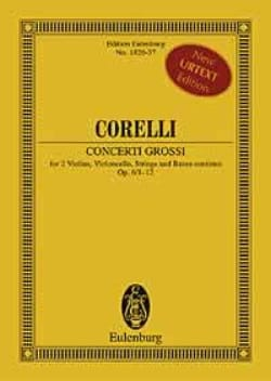 12 Concerti Grossi, Op. 6 - Conducteur CORELLI Partition laflutedepan