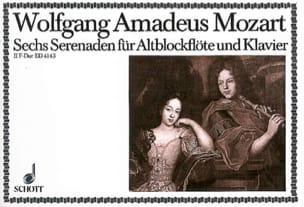 Wolfgang Amadeus Mozart - Serenade Nr. 2 F-Dur – Altblockflöte u. Klavier - Partition - di-arezzo.fr