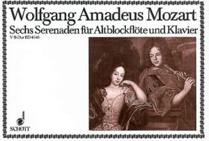 MOZART - Serenade Nr. 5 B-Dur – Altblockflöte u. Klavier - Partition - di-arezzo.fr