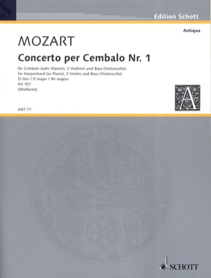 MOZART - Cembalo-Konzert Nr. 1 D-Dur - Stimmen - Sheet Music - di-arezzo.co.uk