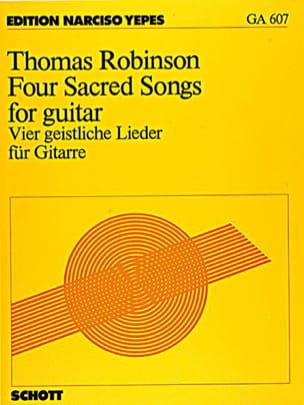 4 Sacred Songs for guitare - Thomas Robinson - laflutedepan.com
