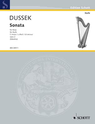 Johann L. Dussek - C Minor Sonata - Harp - Sheet Music - di-arezzo.co.uk