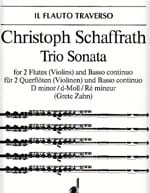 Christoph Schaffrath - Sonata Trio d-moll - 2 Flöten Violinen Bc - Sheet Music - di-arezzo.com