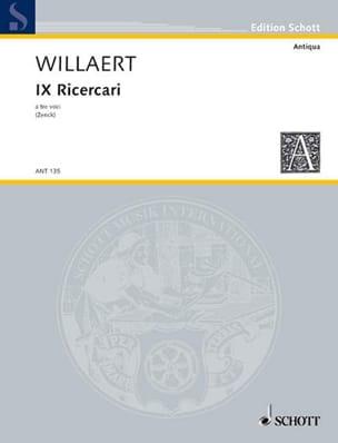 9 Ricercari a tre voci - Partitur - Adrian Willaert - laflutedepan.com