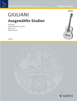 Mauro Giuliani - Ausgewählte Studien Bd 1 - Sheet Music - di-arezzo.co.uk