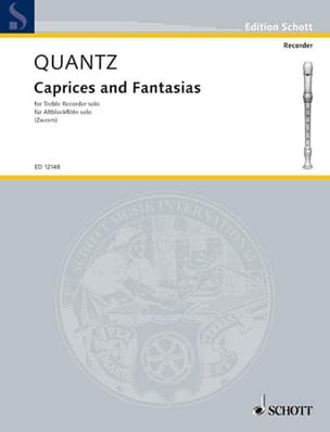 Johann Joachim Quantz - Caprices and Fantasias – Treble recorder solo - Partition - di-arezzo.fr
