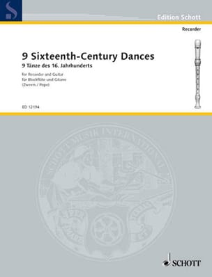 Nine Sixteenth-Century Dances - Partition - laflutedepan.com