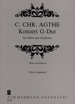 Carl Christian Agthe - Concerto en Sol Majeur - Partition - di-arezzo.fr
