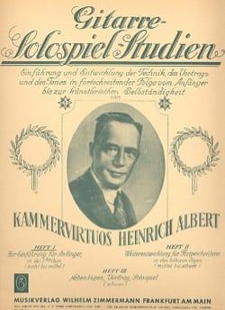 Heinrich Albert - Solospiel-Studien - Heft 1 - Sheet Music - di-arezzo.com