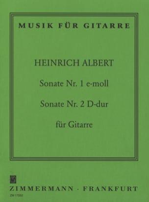 Heinrich Albert - Sonate Guitare Nr. 1 C-Moll - Nr. 2 D-Dur - Partition - di-arezzo.fr
